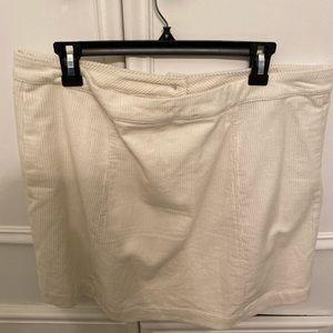 Cream corduroy skirt